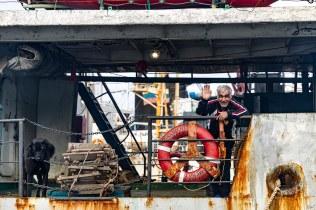 Een boot in de haven